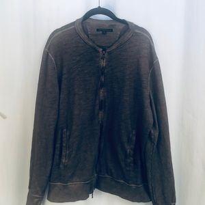 John Varvatos zipper front sweatshirt